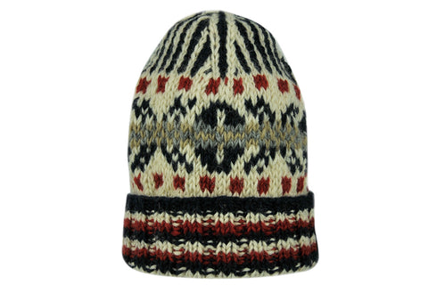 Skeve-Fairisle Knit Cap (Navy / Off White)