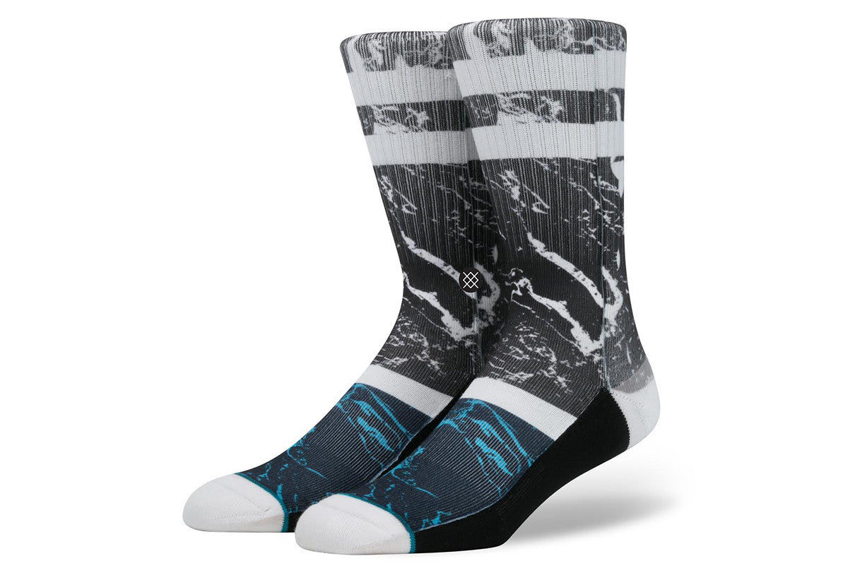 STANCE-Marble Crew (Black/White)