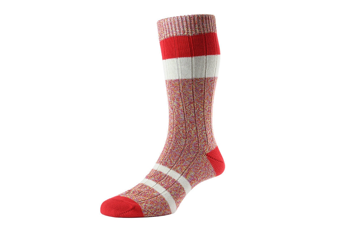 SCOTT NICHOL SOCKS-The Kennington (Red)
