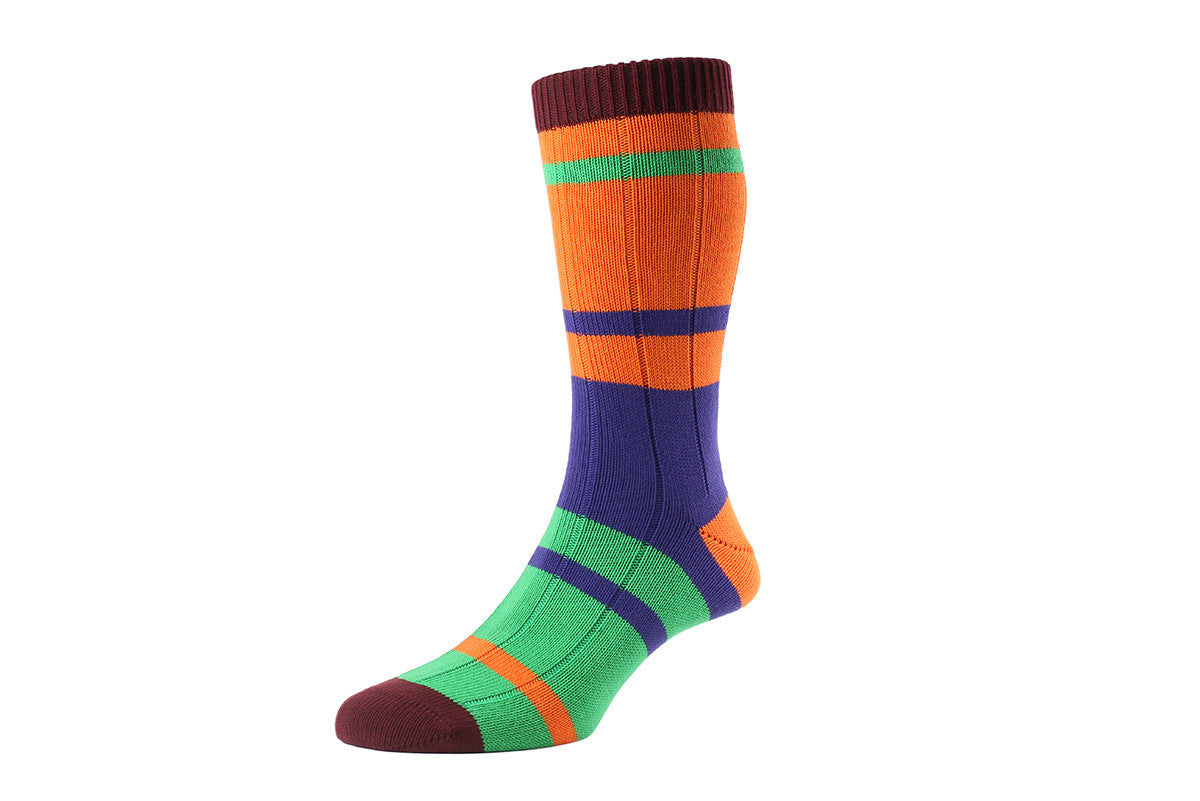 SCOTT NICHOL SOCKS-The Silsden (Orange)