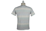 V: : Room-Long Loop Border Tee (Grey Heather w/ Multi Stripe)