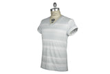 V: : Room-Cachion Border Tee (Pewter Multi Stripe)