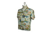 Vintage Hawaiian Print Shirt (White Multi Print)