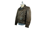 Vintage Schott Biker Jacket (Brown Leather)