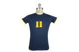 Vintage No.11 Reversible Tee (Navy / Yellow)