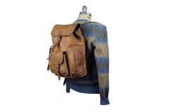 Vintage Leather Backpack (Natural)