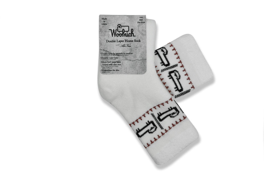 WOOLRICH HOME-Double Layer Aloe Sock (Off White Sheep)