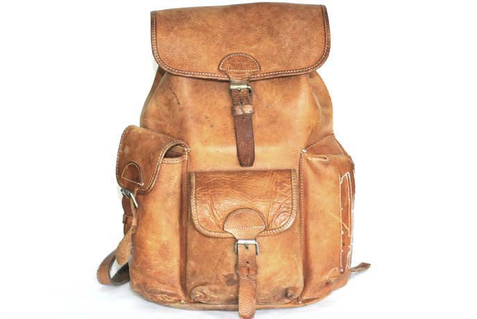 Vintage leather backpack