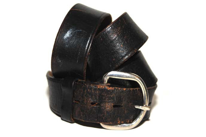 Vintage Dress Belt & Buckle Set (Black)