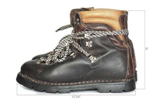 Vintage Tri Colored Hiking Boots (Chocolate/Tobacco/Natural)