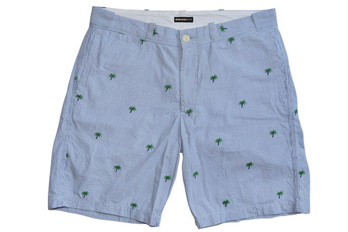 BURKMAN BROS-Mini Palm Bermuda Shorts (Blue Stripe)