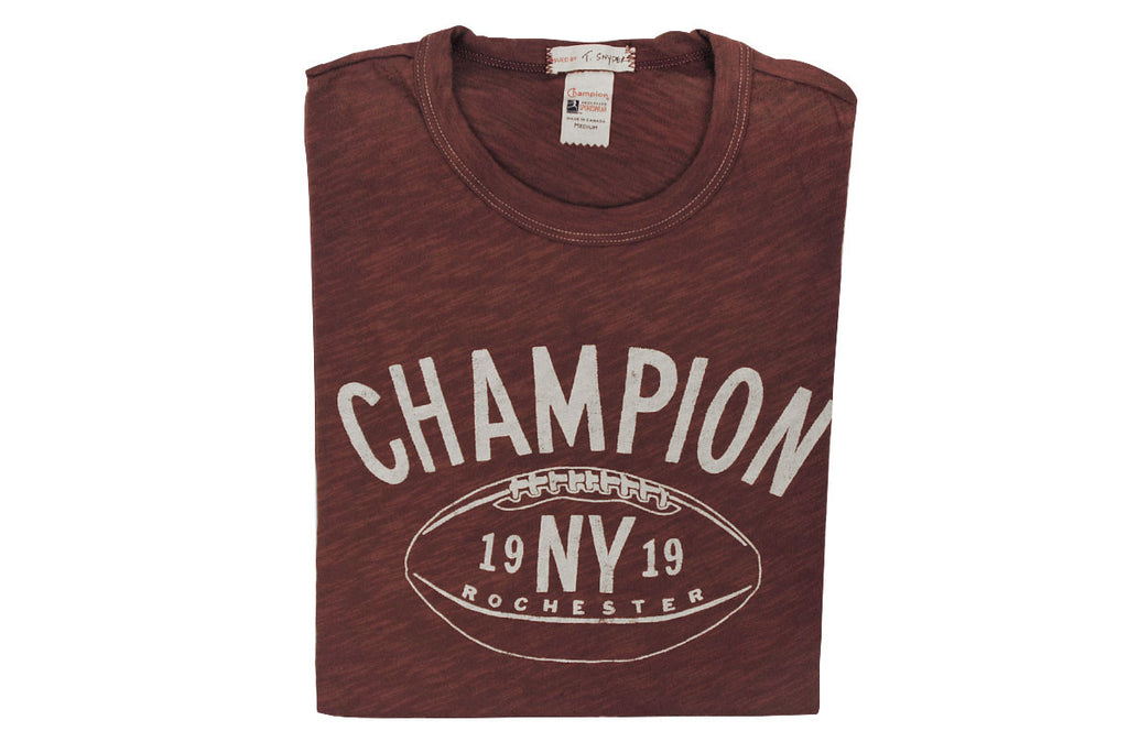 TODD SNYDER + CHAMPION-New York Football Tee (Crimson Red)
