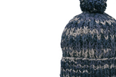 CHAMULA-Double Knit Cap (Navy Mix Stripe)
