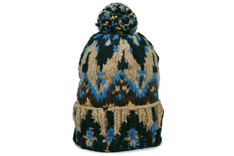 CHAMULA-Double Knit Cap (Navy Fairisle)