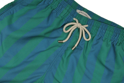 SOLID & STRIPED-The Classic / Las Brisas Stripe (Green+Blue)