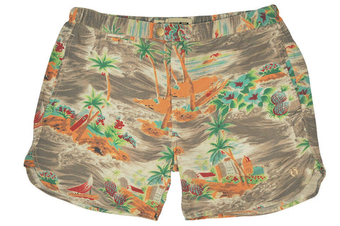 HANG TEN GOLD-ISLAND BOARDSHORTS (Scenic Grey)