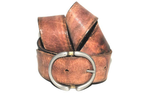 "Vintage Double ""D"" Ring Belt (Natural)"