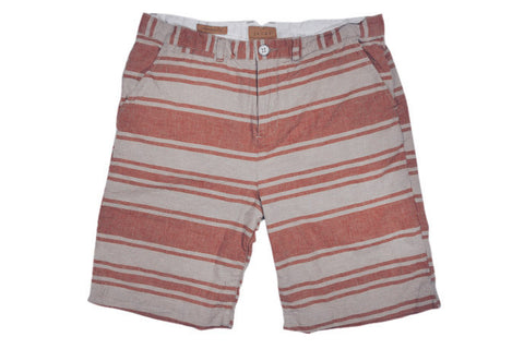 JACHS-Bermuda Shorts (Brick/Natural Stripe)
