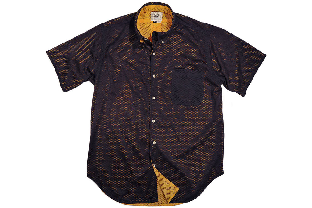 MARK McNAIRY NEW AMSTERDAM-Reversible Mesh Shirt (Navy/Yellow)