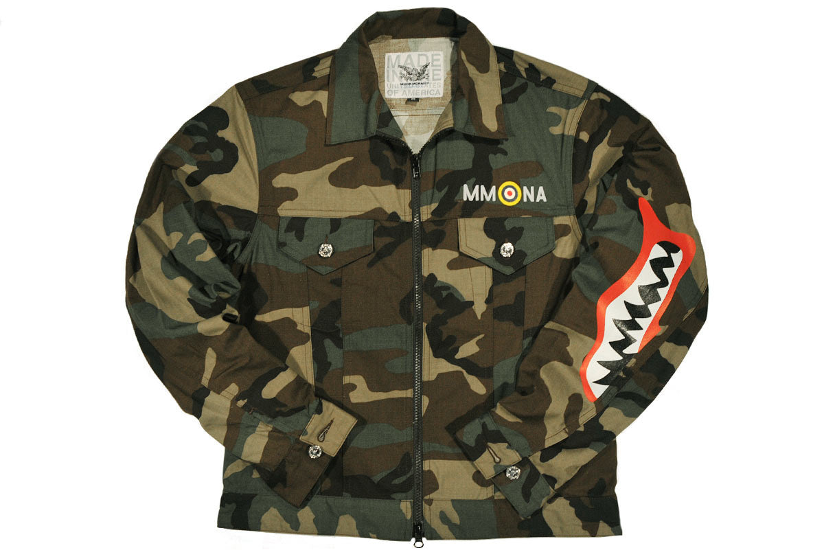 MARK McNAIRY NEW AMSTERDAM-Trucker Jacket (Tiger Camo)