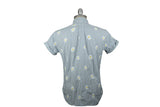 MARK McNAIRY NEW AMSTERDAM-Daisy Seersucker Shirt (Blue/White)