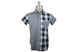 MARK McNAIRY NEW AMSTERDAM-Mixed Gingham Fun Shirt (Navy)