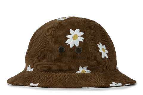 MARK McNAIRY NEW AMSTERDAM-Corduroy w/ Daisy Bucket Hat (Chestnut)