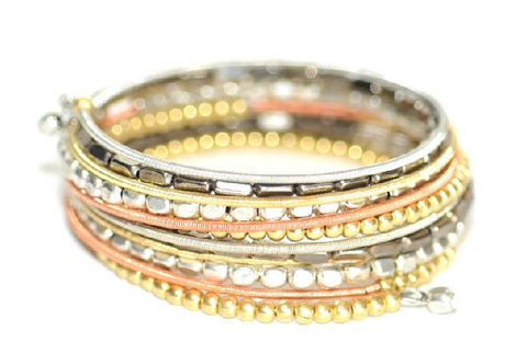 JEFFREY MARK COLLECTION-Coil Bracelet (Silver/Gold)
