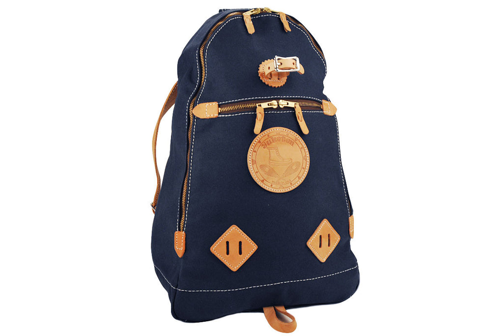 YUKETEN-Triangle Canvas Backpack (Navy)