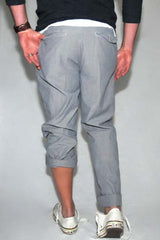 Save Khaki Novelty Stripe Pant Grey Micro Stripe