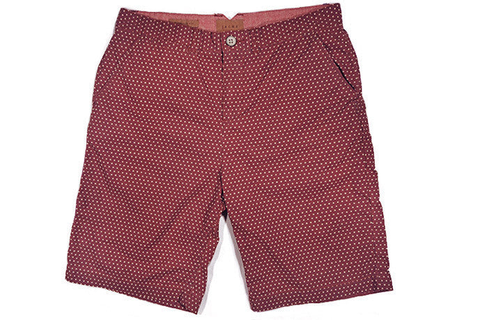 JACHS-Bermuda Shorts (Red Polka Dot)