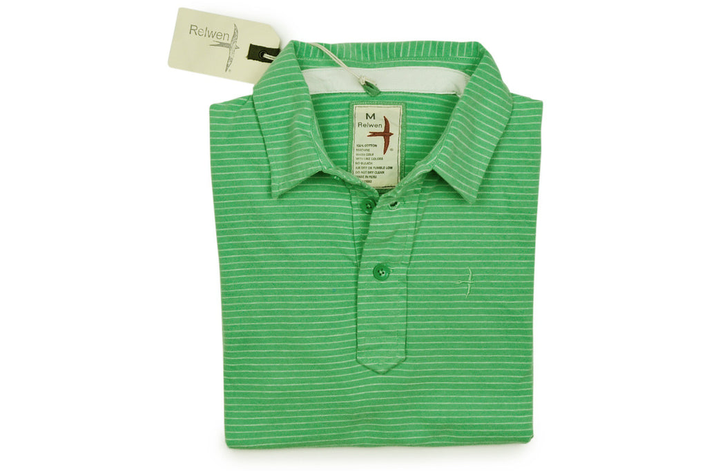 RELWEN-Peach Finished Jersey Polo (Light Green)