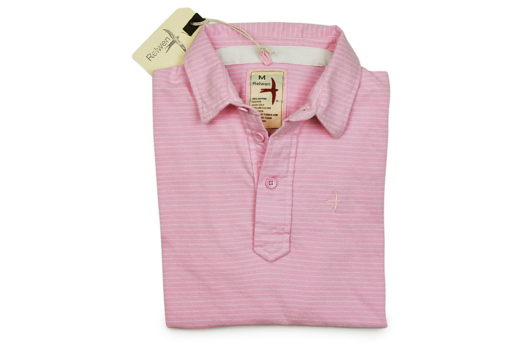 RELWEN-Peach Finished Jersey Polo (Light Pink)