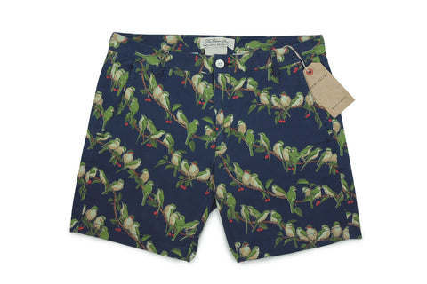 REMI RELIEF-Bird Motif Bermuda Shorts (Navy)