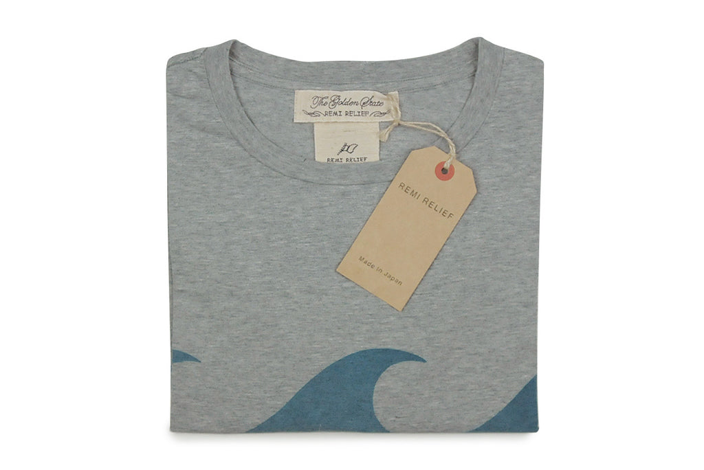 REMI RELIEF-Wave Tee (Heather Grey)