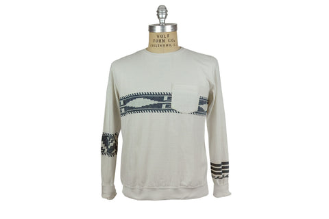REMI RELIEF-L/S Switchover Jacquard Tee (Off White)
