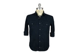 SAVE KHAKI-Baby Cord Camp Shirt (True Navy)