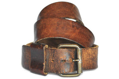 Vintage Single Prong Belt (Luggage)