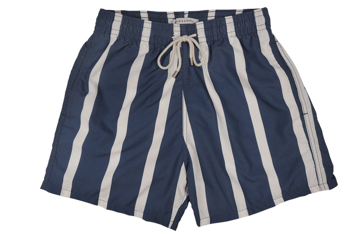 SOLID & STRIPED-The Classic / Watermill Stripe (Midnight+White)