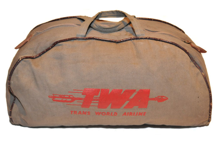 Vintage TWA Pilots Bag (Natural)