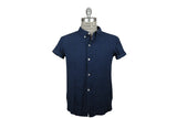 V: : Room-S/S Patchwork Jacquard Camp Shirt (Navy)