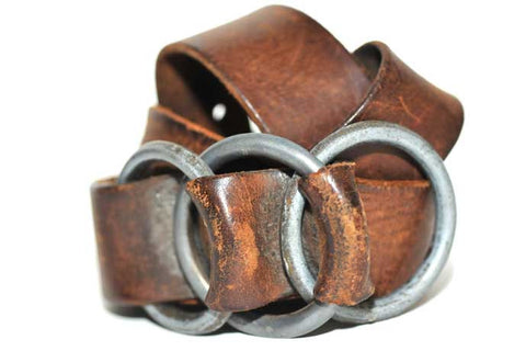 Vintage Three Ring Belt (Tobacco)