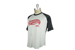 Vintage Hot Wheels Baseball Tee (White w/ Navy)