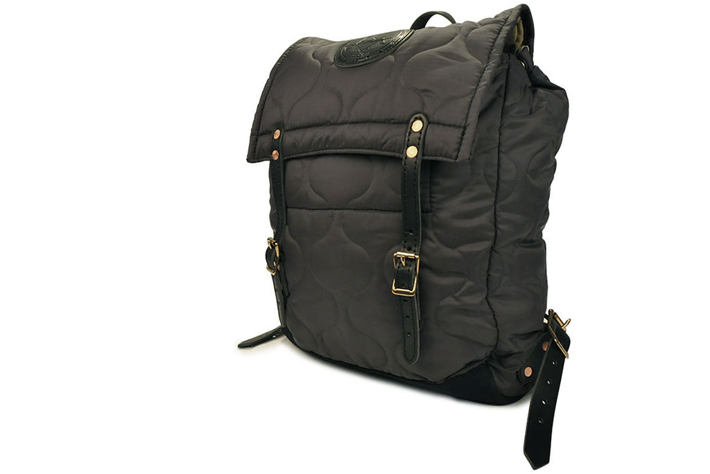 YUKETEN-Quilted Canoe Backpack (Charcoal)