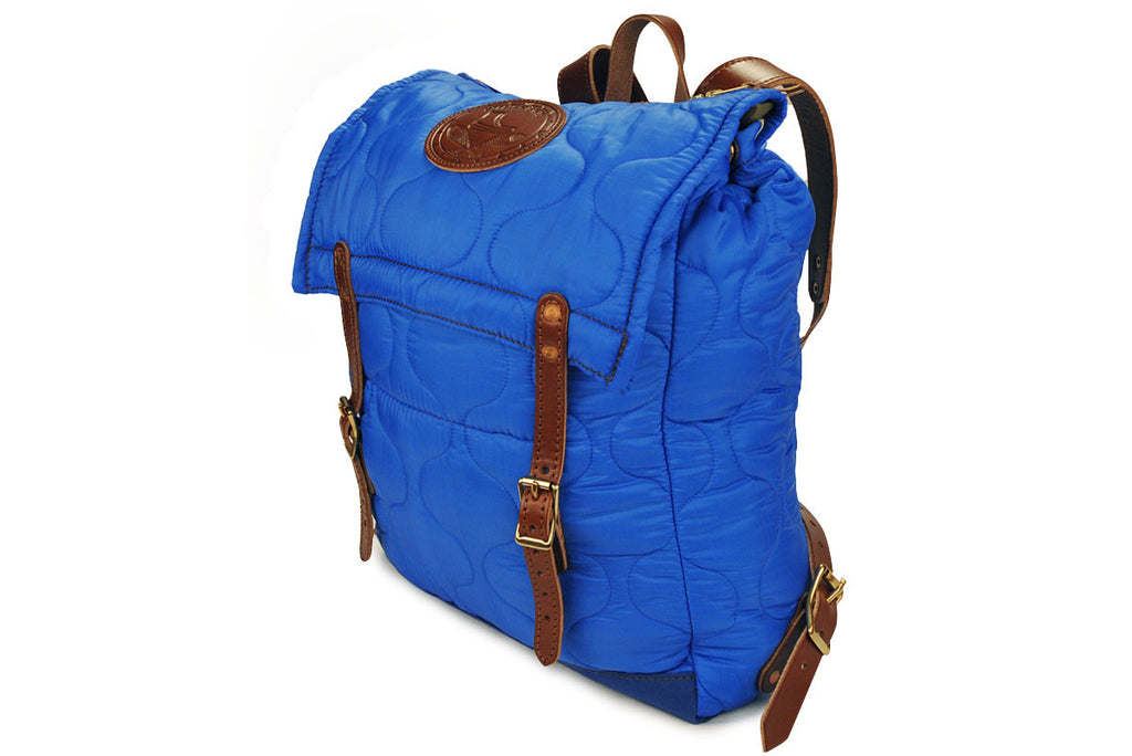 YUKETEN-Quilted Canoe Backpack (Electric Blue)