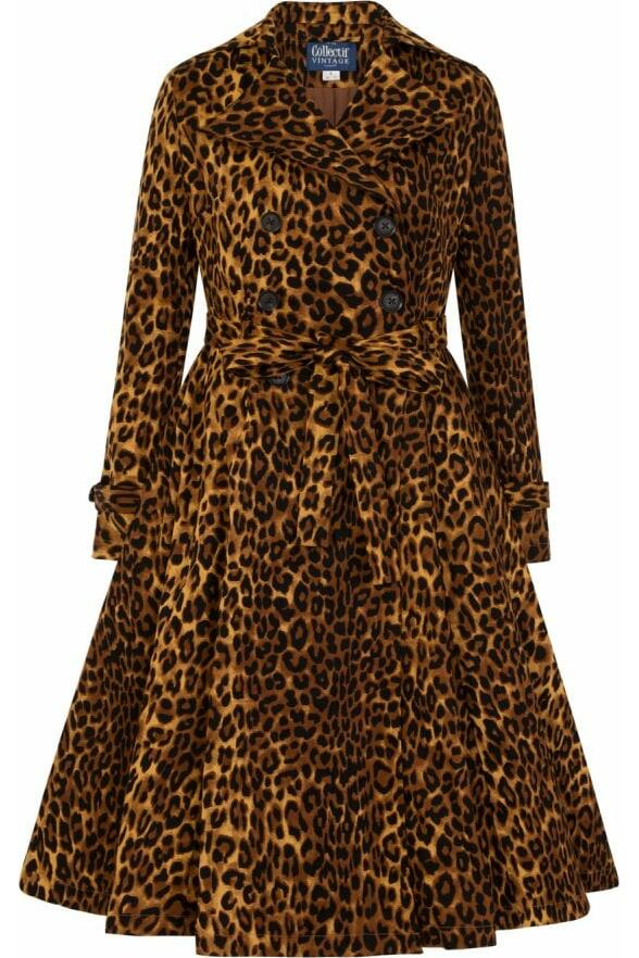 Collectif Scarlett Trench Leopard