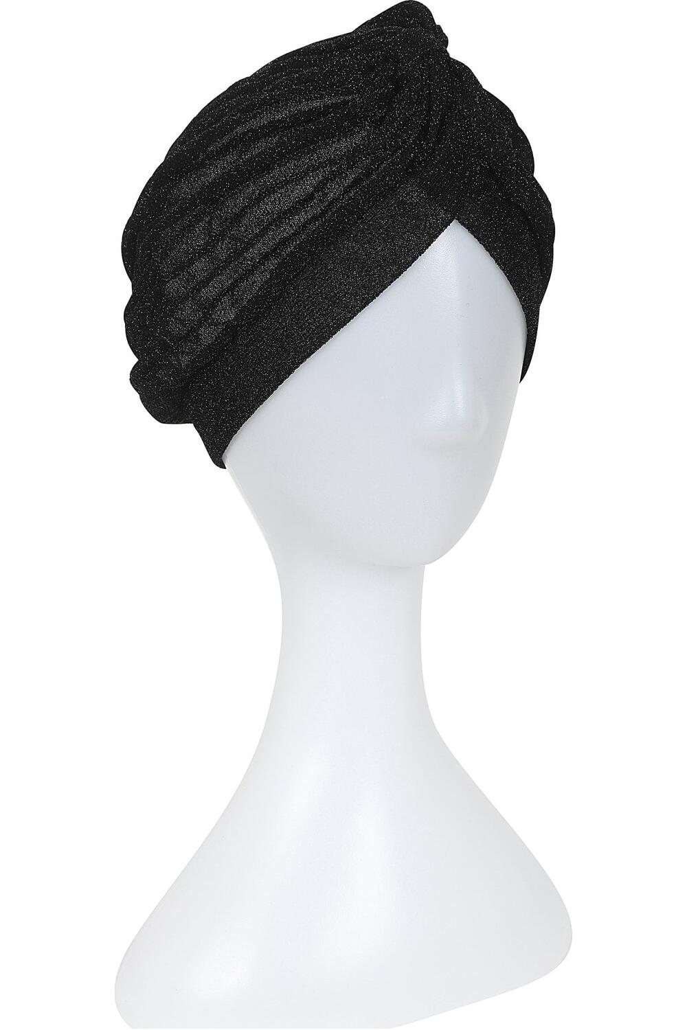 Collectif Turban Raina lurex sort
