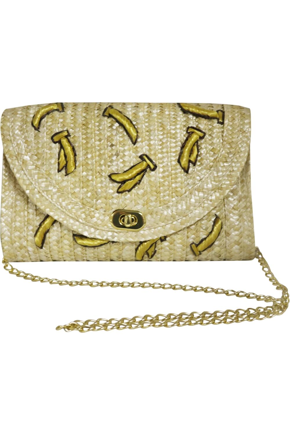 Collectif Banana Straw Bag