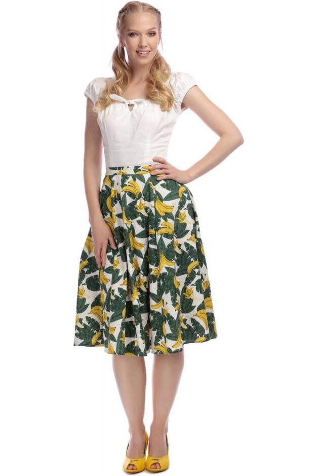 Collectif Swingskjørt Matilde tropical banana