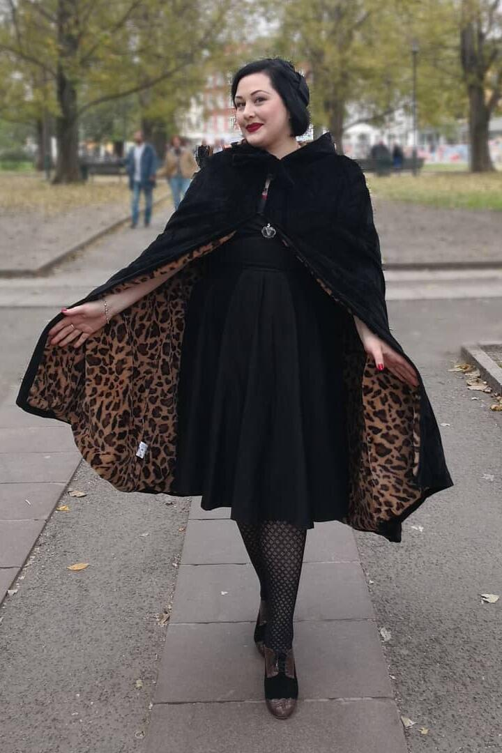 Collectif 50-talls Sheena Cape leopard